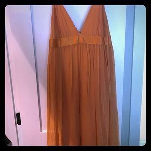 Flowy bright dress orange